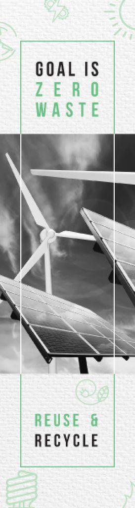 Renewable Energy Wind Turbines and Solar Panels — Создать дизайн