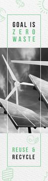 Renewable Energy Wind Turbines and Solar Panels | Email Header Template