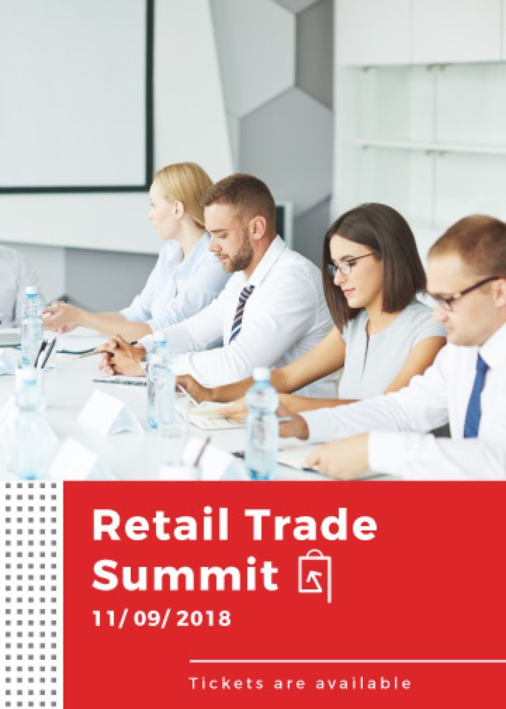Retail trade summit announcement — Создать дизайн
