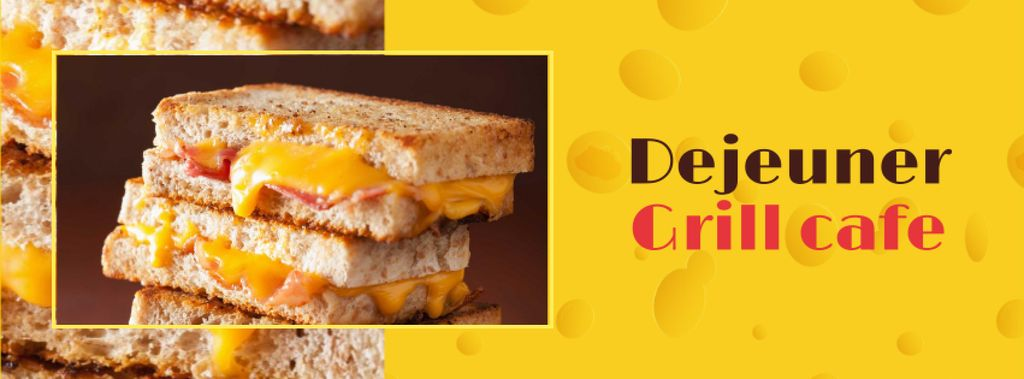 Grilled Cheese dish at Cafe — Créer un visuel