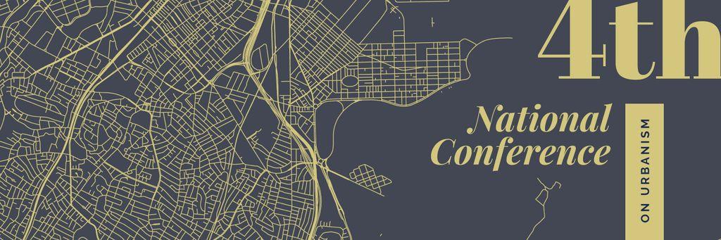 Urbanism Conference Announcement City Map Illustration — Створити дизайн