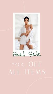 Fashion Sale with Woman in white Outfit