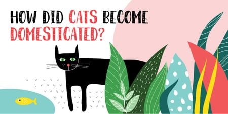 Plantilla de diseño de How did cats become domesticated? Image