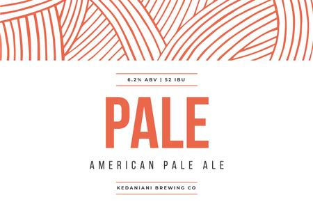 Template di design Beer brand ad on red pattern Label