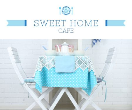 Modèle de visuel Sweet home cafe poster - Large Rectangle