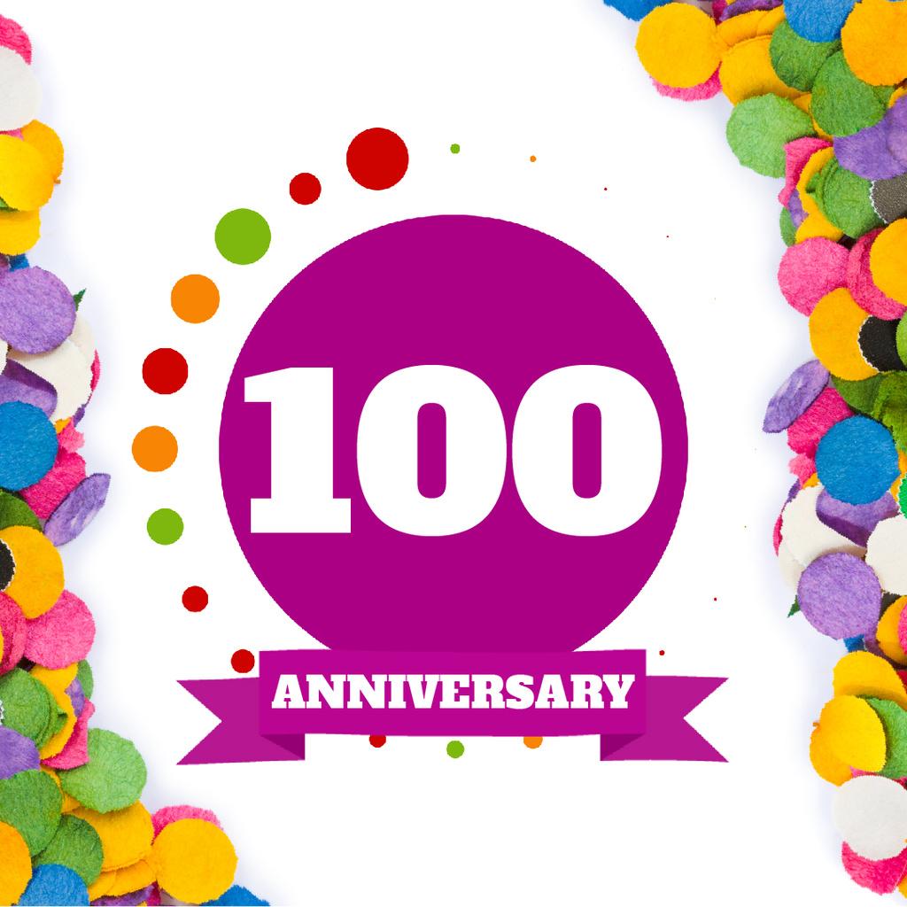 Anniversary celebration template — Crea un design