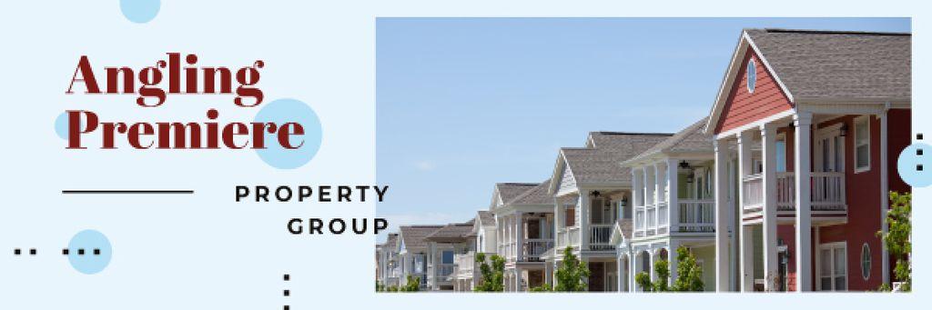Real Estate Ad Modern Houses Facades | Email Header Template — Créer un visuel