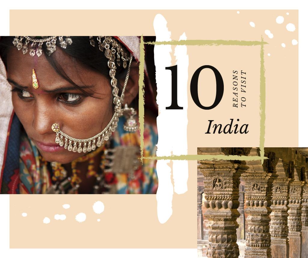 Indian girl in traditional costume — ein Design erstellen