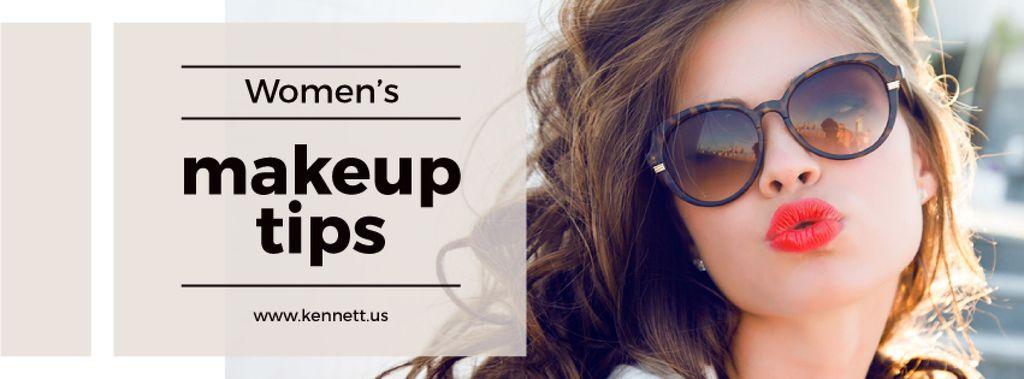 Makeup Tips with Beautiful Young Woman — Crear un diseño