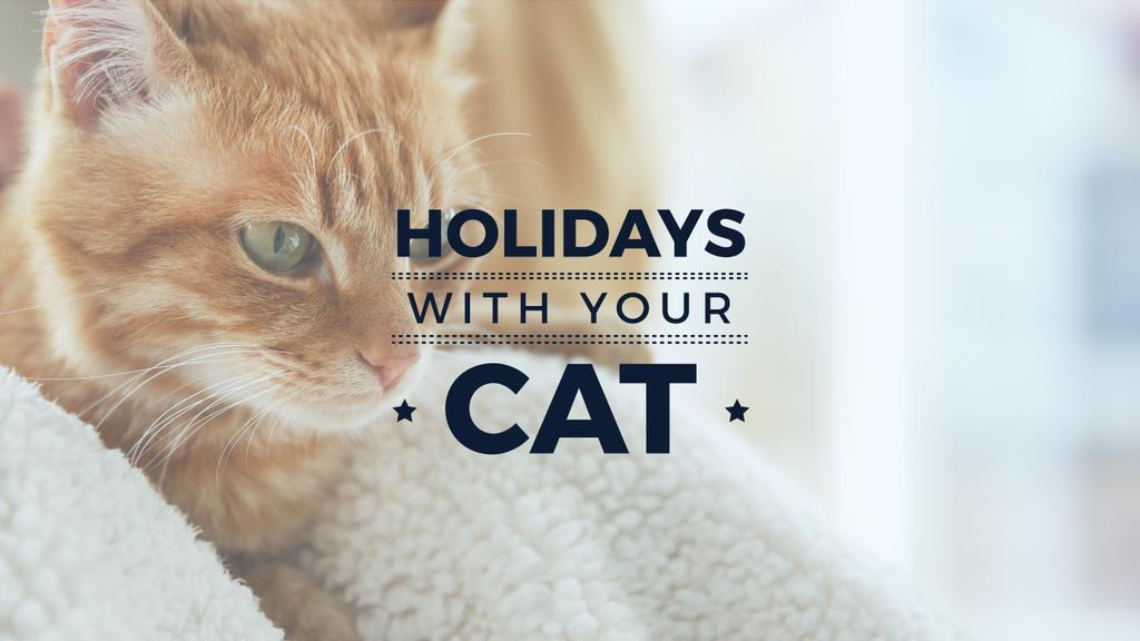 holiday wit your cat banner with red cat — Crea un design