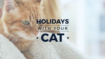 holiday wit your cat banner with red cat