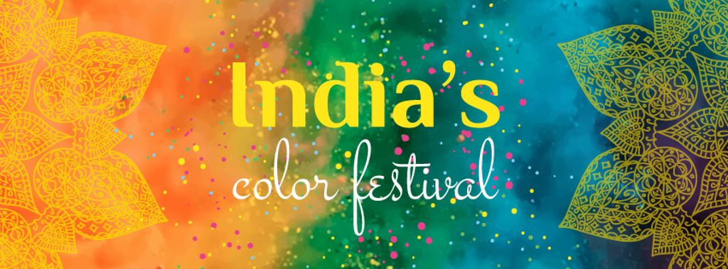 Indian Holi festival celebration — Create a Design