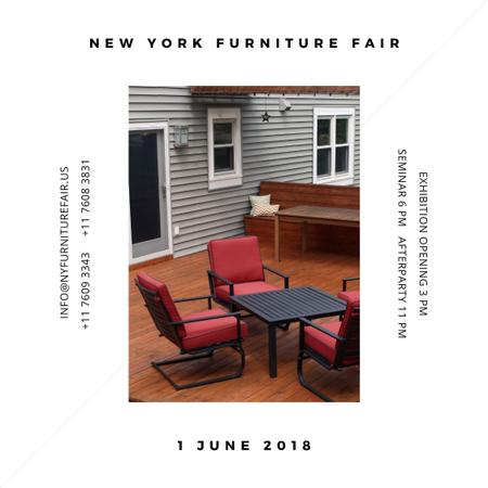 New York Furniture Fair announcement Instagram AD Modelo de Design