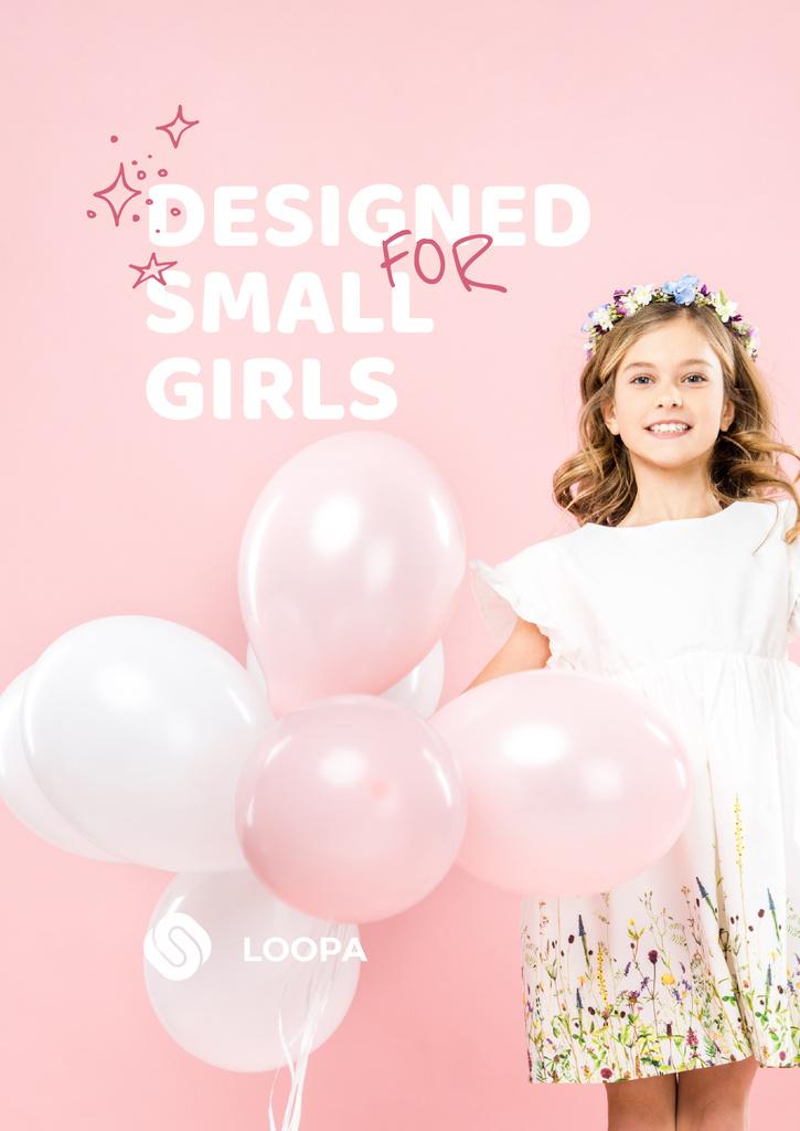 Girl with balloons wearing cute Dress - Vytvořte návrh