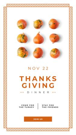 Template di design Small pumpkins for Thanksgiving decoration Instagram Story