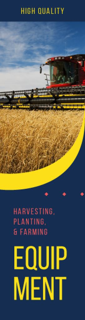 Farming Equipment Harvester Working in Field — Створити дизайн