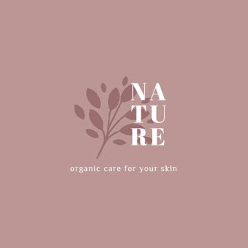 Skincare Ad Plant Leaves in Pink
