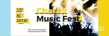 Charity Music Fest Announcement Email header Design Template