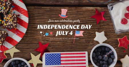 Template di design USA Independence Day Celebration Facebook AD