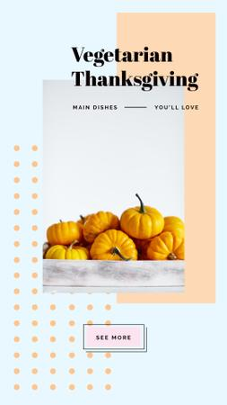 Yellow small Thanksgiving pumpkins Instagram Story Modelo de Design