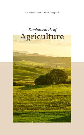 Szablon projektu Agriculture Guide Green Valley Landscape Book Cover