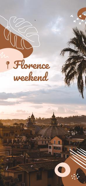 Florence old city view Snapchat Geofilter Modelo de Design