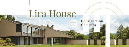 Plantilla de diseño de Construction Company ad with Houses Facebook cover