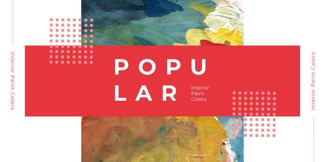 Plantilla de diseño de Colorful paint blots Image