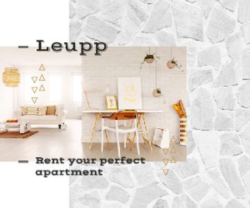 Real Estate Ad Cozy Interior in White Colors | Medium Rectangle Template