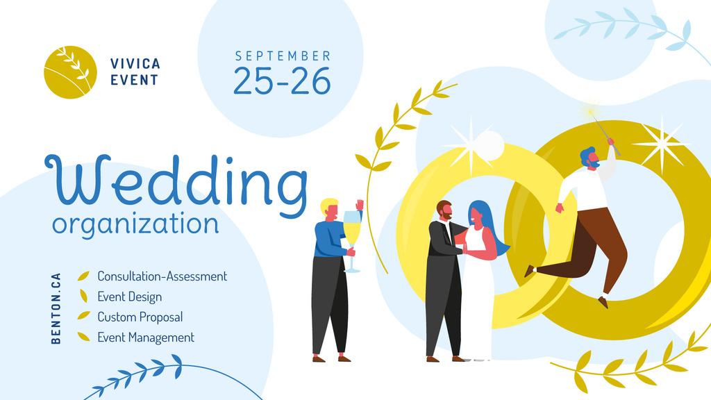 Wedding Planning Services Happy Newlyweds  — Modelo de projeto