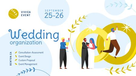 Plantilla de diseño de Wedding Planning Services Happy Newlyweds  FB event cover