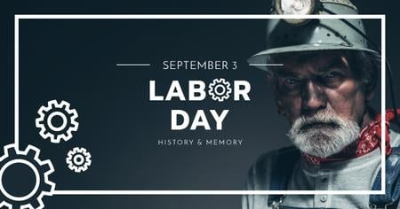 Labor Day with Elder Worker Facebook AD – шаблон для дизайна
