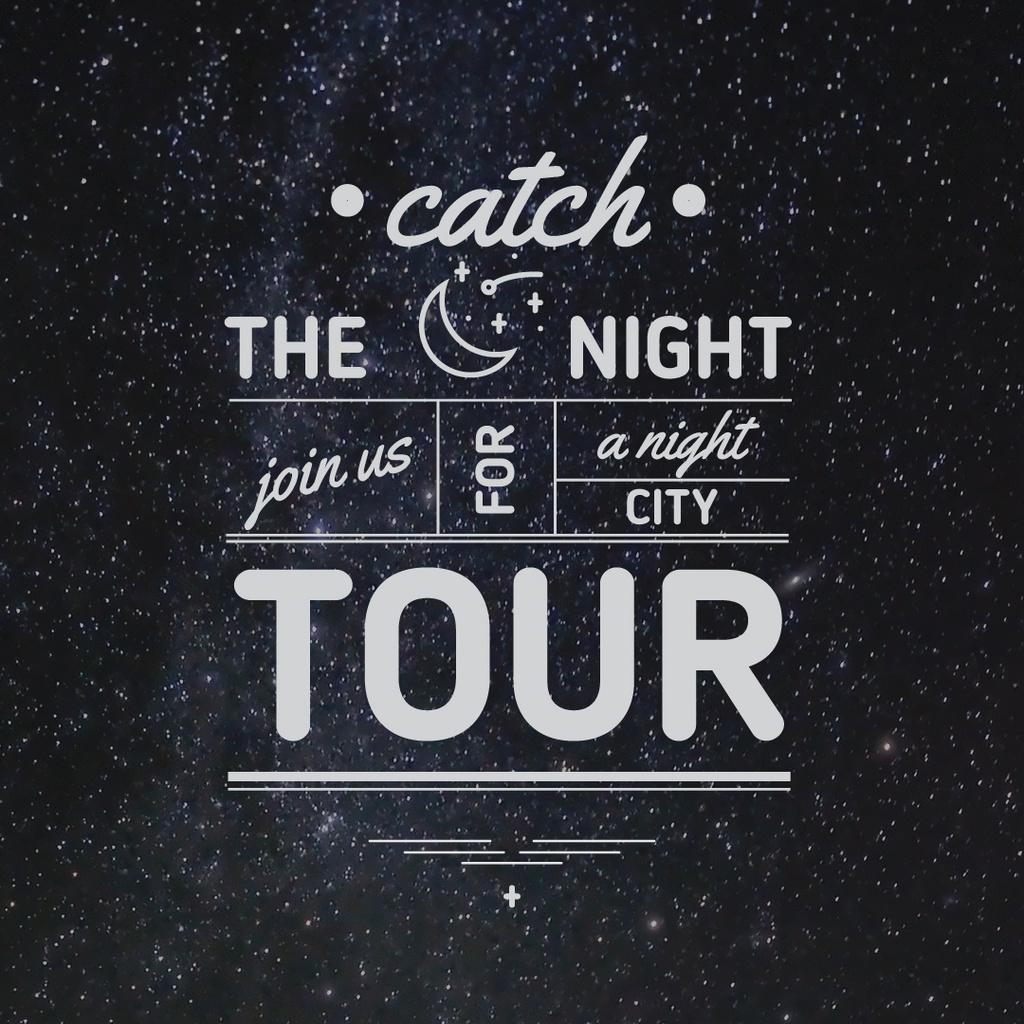 Night city tour Announcement — Create a Design