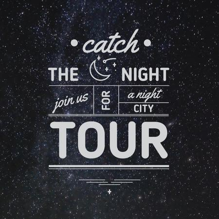 Ontwerpsjabloon van Instagram van Night city tour Announcement