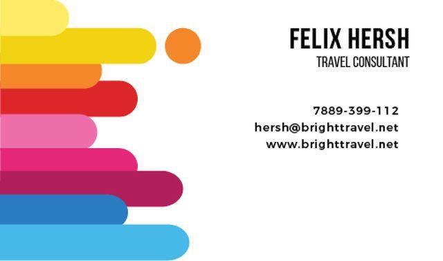 Travel Consultant Services Offer Business card Tasarım Şablonu