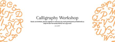 Ontwerpsjabloon van Facebook cover van Calligraphy workshop Annoucement