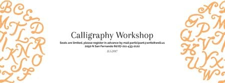 Calligraphy workshop Annoucement Facebook cover Design Template