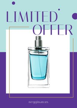 Perfume Offer Glass Bottle in Blue | Flyer Template