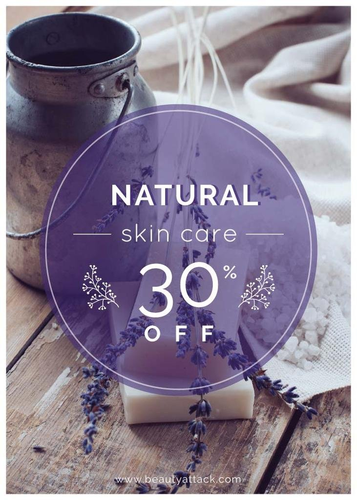 Natural skincare sale with lavender Soap — Maak een ontwerp