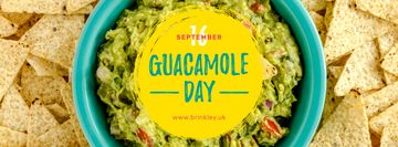 Mexican guacamole dish Day