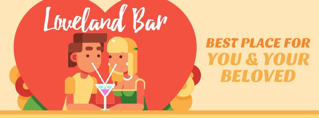 Dreamy Lovers enjoying Coctails on Valentine's Day — Создать дизайн