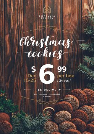Plantilla de diseño de Christmas Offer with Sweet Cookies Poster