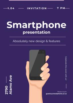 Invitation to new smartphone presentation