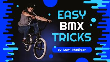 BMX Tricks Man Jumping on Bike | Youtube Thumbnail Template