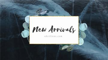 New Arrivals Ad Green Leaves Frame | Full Hd Video Template