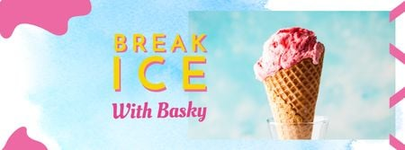 Plantilla de diseño de Sweet Ice Cream offer Facebook cover
