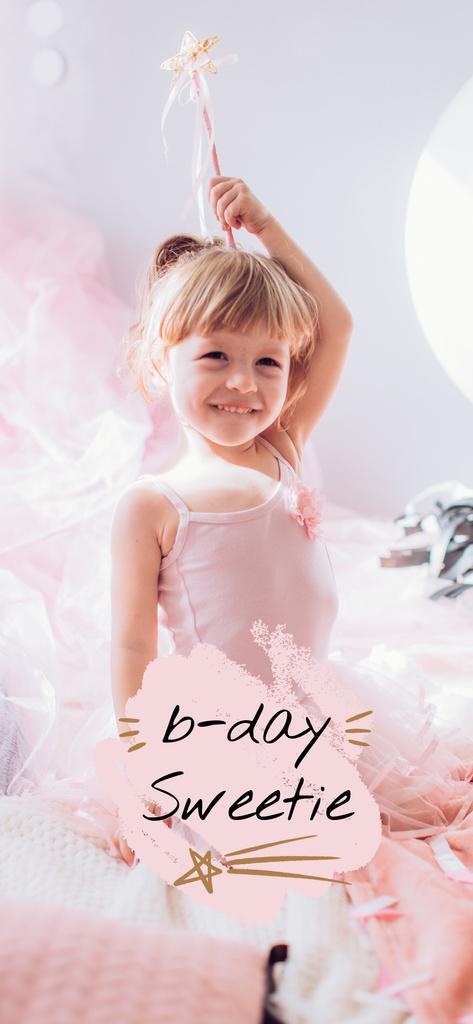 Cute Girl celebrating Birthday - Vytvořte návrh