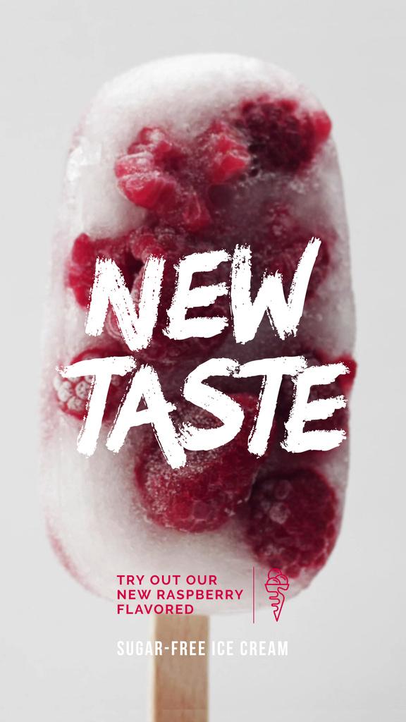 Popsicle with Raspberries Offer — Créer un visuel