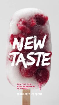 Popsicle with Raspberries Offer | Vertical Video Template