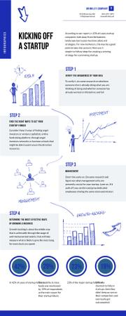 Business Infographics about Kicking of a Startup Infographicデザインテンプレート